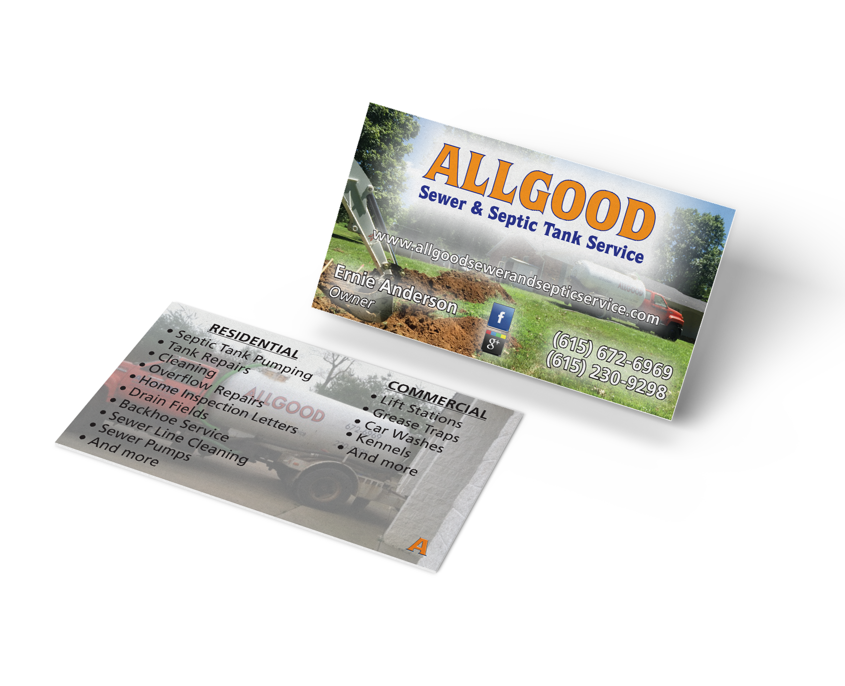 Allgood's business card