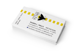 Delta Pest Control business card magnet