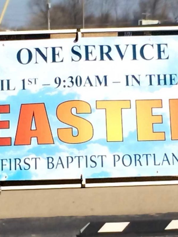 Easter artwork created for 4'x8' banner