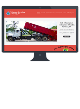 Volunteer Recycling and Salvage, Inc. redesigned website