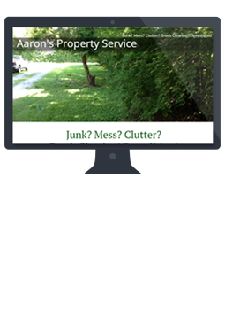 Aaron's Property Service website created & maintained by silver cricket designs