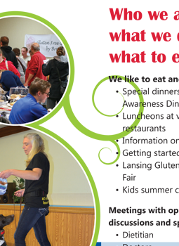 custom brochure combine information and membership form