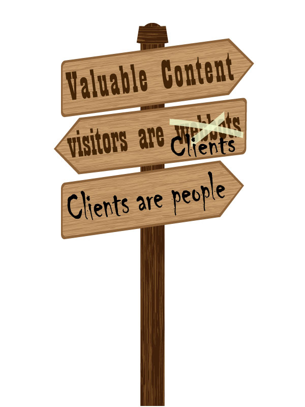 Website visitors are people and people are clients